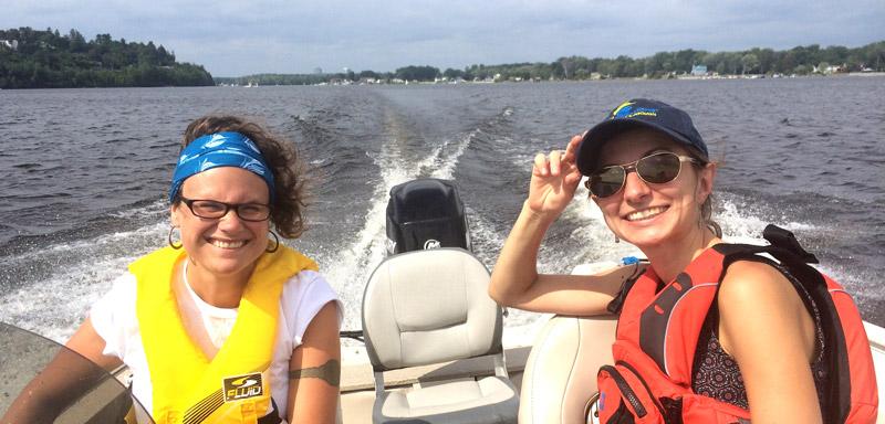 My friendly boat crew!