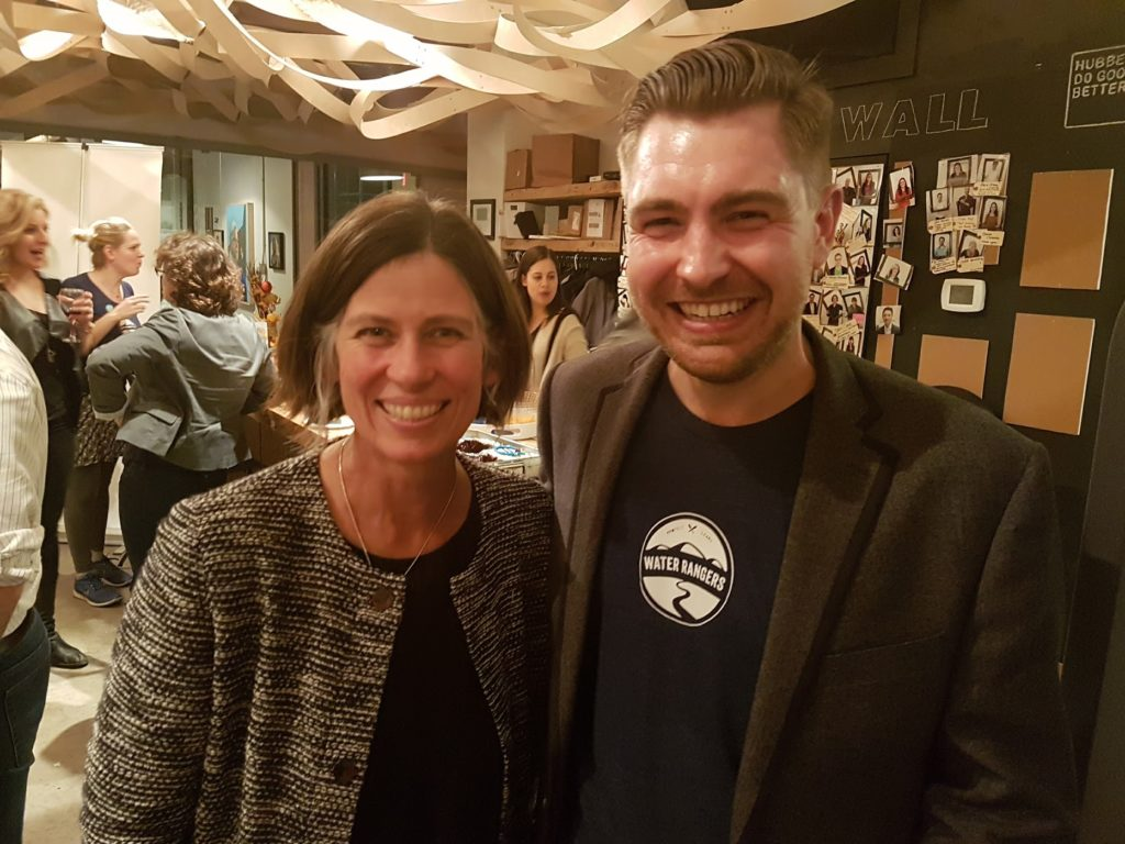 Mark with board member and Ottawa Riverkeeper, Meredith Brown